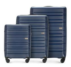 Zestaw walizek, granatowy, 56-3T-75S-90, Zdjęcie 1