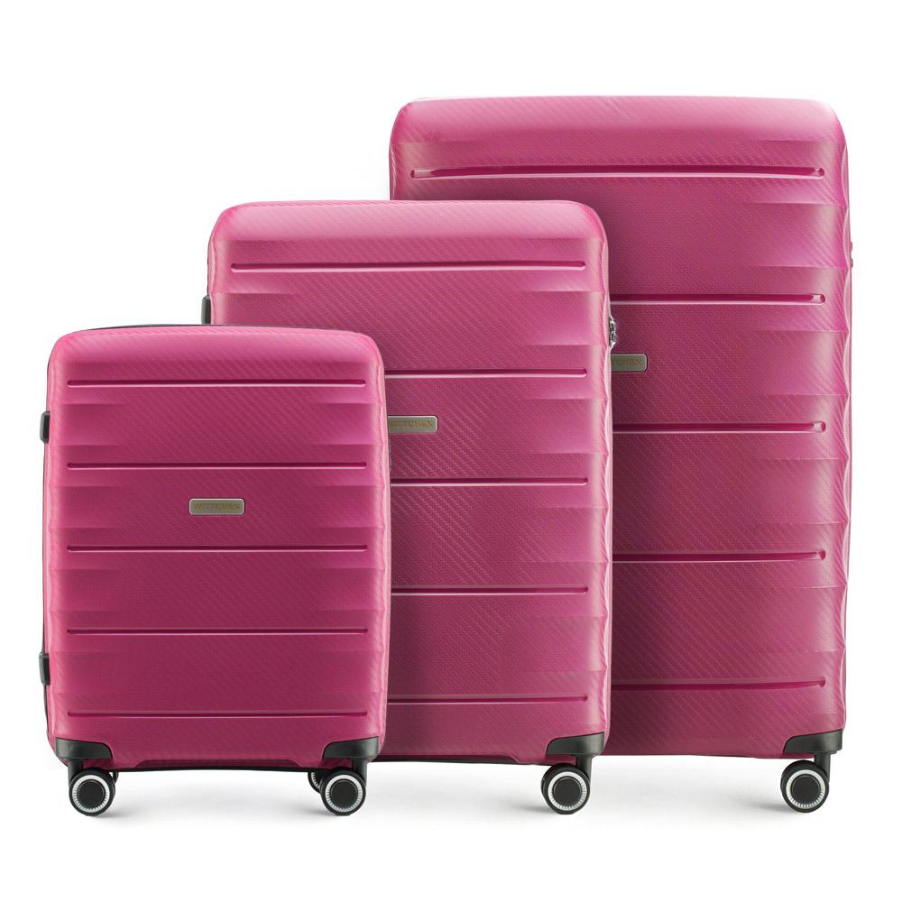 Купить Комплект чемоданов, WITTCHEN, Германия, розовый