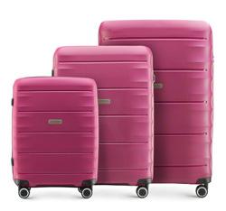 Zestaw walizek, ciemny róż, 56-3T-76S-24, Zdjęcie 1