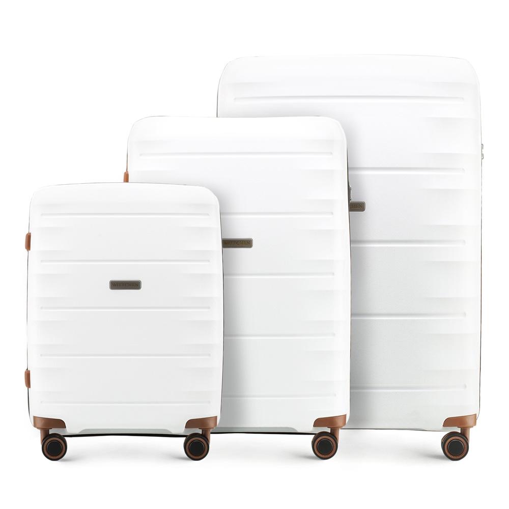 Купить Комплект чемоданов, WITTCHEN, Германия, белый