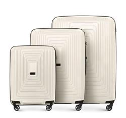 0f5dffce82d2b Zestaw walizek, biały, 56-3T-78S-00, Zdjęcie 1