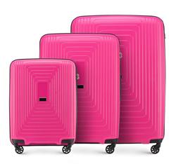 Zestaw walizek, fuksja, 56-3T-78S-60, Zdjęcie 1