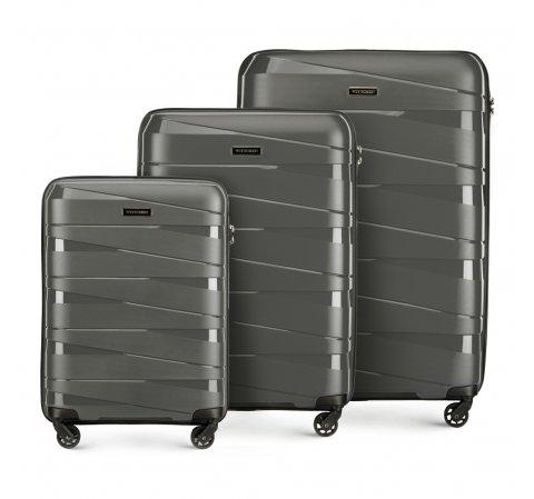zestaw walizek, szary, 56-3T-79S-10, Zdjęcie 1