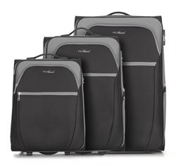 Zestaw walizek, czarno - szary, V25-3S-23S-01, Zdjęcie 1