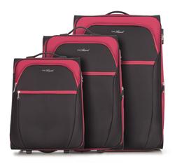 Zestaw walizek, czarno - czerwony, V25-3S-23S-15, Zdjęcie 1