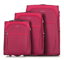 Luggage set, red, V25-3S-23S-31, Photo 1