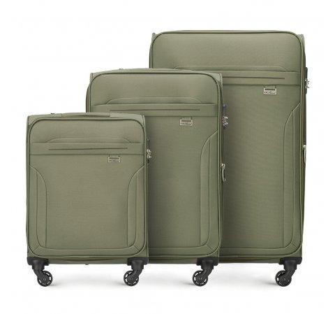 Zestaw walizek, khaki, V25-3S-26S-40, Zdjęcie 1