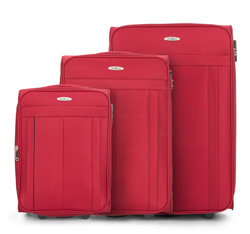 Luggage set, red, V25-3S-27S-30, Photo 1