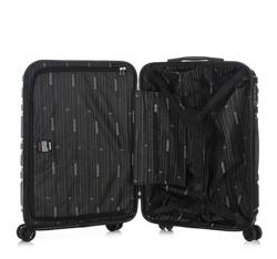 Zestaw walizek z polikarbonu tłoczonych, czarny, 56-3P-98S-11, Zdjęcie 1