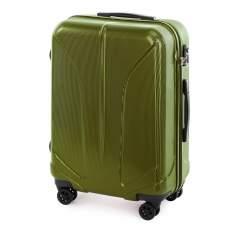 Zestaw walizek z polikarbonu żłobionych, zielony, 56-3P-81S-80, Zdjęcie 1