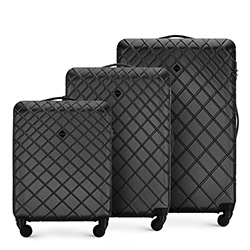 Luggage set, steel - black, 56-3A-55S-11, Photo 1