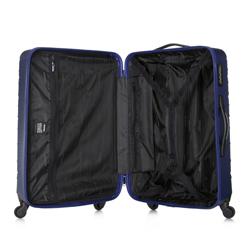 Zestaw walizek z ABS-u z deseniem, granatowy, 56-3A-55S-91, Zdjęcie 1