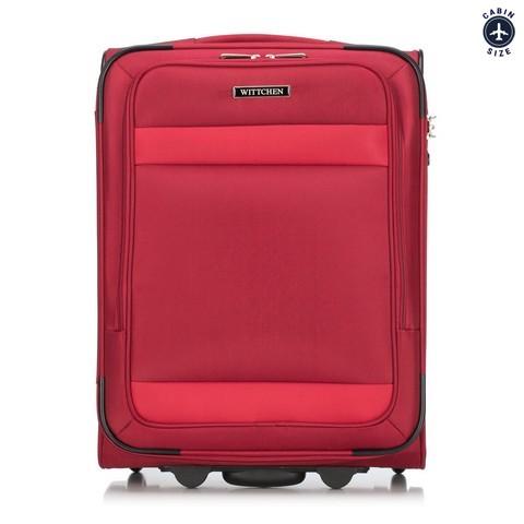 Zestaw walizka + torba, czerwony, 56-3S-580-90, Zdjęcie 1