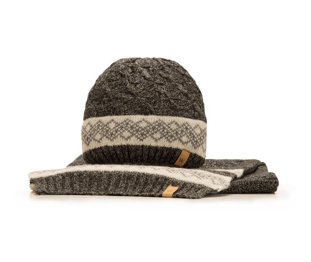 Комплект шапка + шарф Wittchen 85-SF-200-1, черныйКомплект шапка + шарф<br><br>секс: мужчина<br>Цвет: черный<br>высота (см):: 200<br>ширина (см):: 30