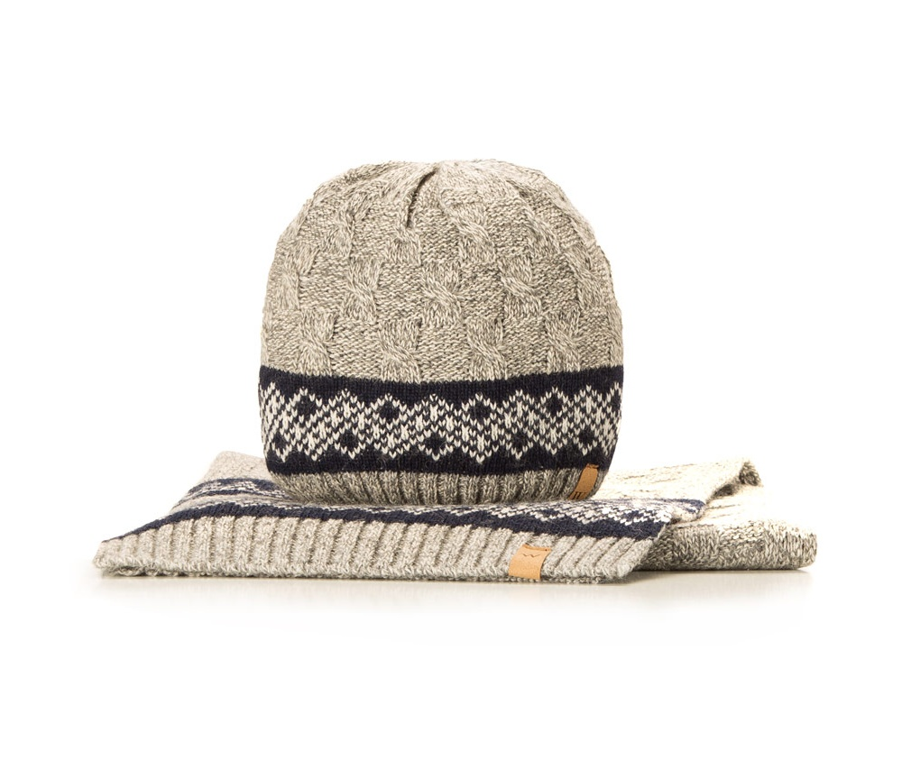 Комплект шапка + шарф Wittchen 85-SF-200-8, серыйКомплект шапка + шарф<br><br>секс: мужчина<br>Цвет: серый<br>высота (см):: 200<br>ширина (см):: 30